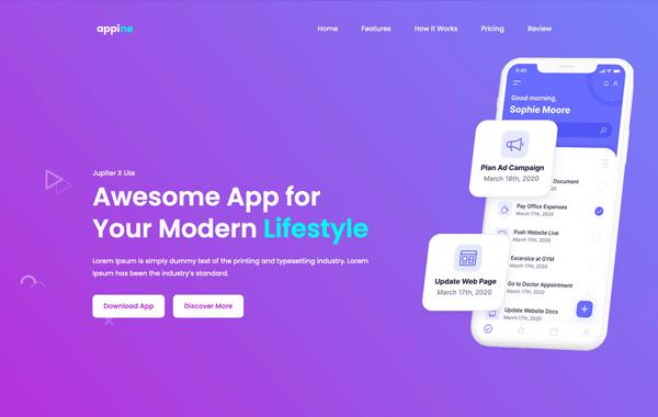 JUPITER X – App4 - Site para Aplicativo de Celular