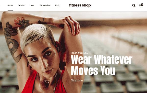 JUPITER X – Fitness Shop - Site para Aplicativo de Celular